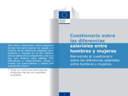 Cuestionario sobre las diferencias salariales entre hombres y mujeres