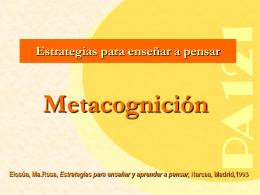 """y """"metacognición""""? - Centro Universitario de Ciencias de la Salud"""