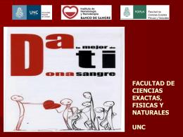 Campaña de Donación de Sangre - Facultad de Ciencias Exactas