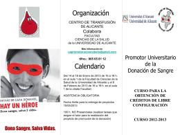 Curso Promotor Universitario de Donación de Sangre