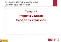 Tema 3.7 Pregunta y Debate Sección 35 Transición