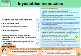 Inyectables mensuales