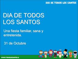 PROYECTO FIESTA DE TODOS LOS SANTOS