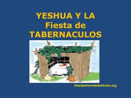 YESHUA Y LA FIESTA DE TABERNACULOS. Conferencia(1).