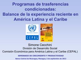 Balance de la experiencia reciente en América Latina y el Caribe