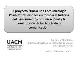 """El proyecto """"Hacia una Comunicología Posible"""