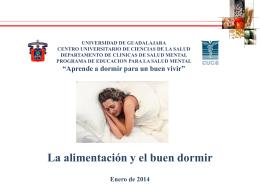 La alimentación y el buen dormir. - Centro Universitario de Ciencias