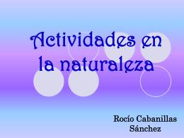 actividades en la naturaleza y protección del medio ambiente