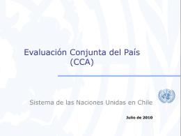 Evaluación Conjunta del País (CCA)