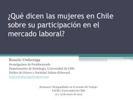 ¿Qué dicen las mujeres en Chile sobre su