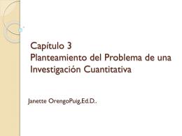 Capítulo 3 Planteamiento del Problema