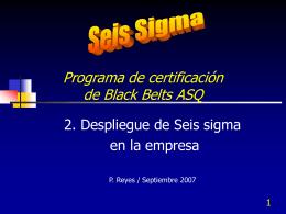 Despliegue de Seis Sigma - Contacto: 55-52-17-49-12