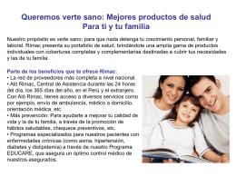 Queremos verte sano - Brokers de Seguros en Perú