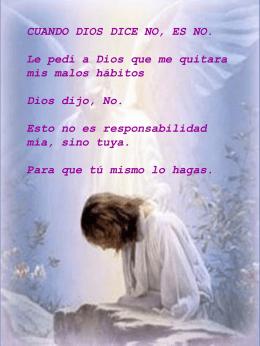 DE: DIOS PARA: MI QUERIDO HIJO(A) Hoy, YO DIOS, estaré