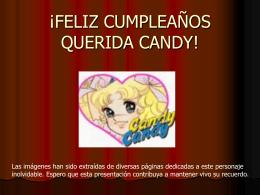 FELIZ CUMPLEAÑOS QUERIDA CANDY