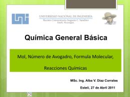 Mol, Número de Avogadro y Reacciones Químicas