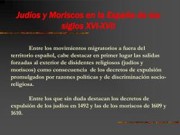 Judíos y Moriscos