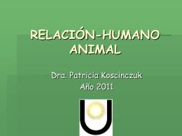 relación-humano animal - Facultad de Ciencias Veterinarias