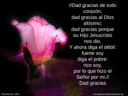 Dad gracias de todo corazón - Iglesia Evangélica Ciudad Meridiana
