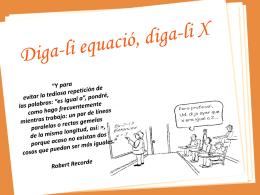 Diga-li equació, diga-li X