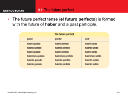 9.1 The future perfect