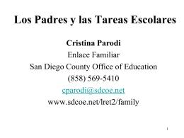 Los Padres y las Tareas Escolares - Parent Engagement