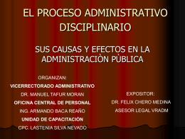 El Proceso Administrativo Disciplinario(Causas y efectos en