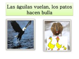 Las águilas vuelan, los patos hacen bulla