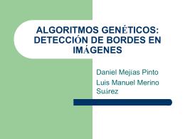 algoritmos genéticos: detección de bordes en imágenes