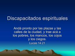 Discapacitados espirituales