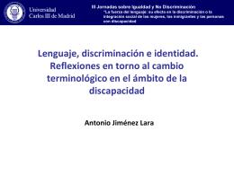 Lenguaje, discriminación e identidad