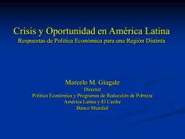 Mucha Tormenta y Poco Paragua: Politica Economica, Pobreza y