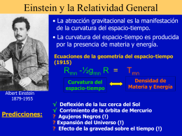 Einstein y la Relatividad General