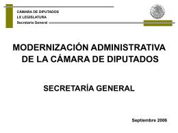 Secretaria General - Cámara de Diputados