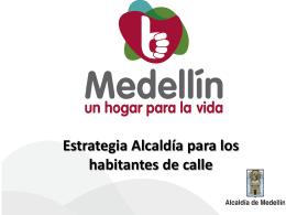 Estrategia Alcaldía para los habitantes de calle DEFINICIONES
