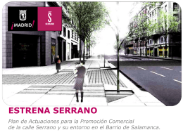 Plan de Actuaciones para la calle Serrano