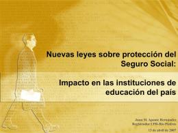 Nuevas leyes sobre protección del Seguro Social