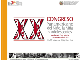 El XX Congreso Panamericano del Niño, Niña y Adolescentes