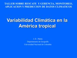 Variabilidad Climática en la América tropical