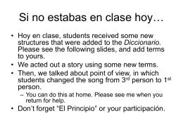 Si no estabas en clase hoy…