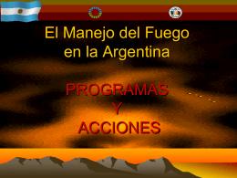 Plan Nacional de Manejo del Fuego