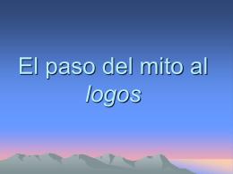 El paso del mito al logos - IES JORGE JUAN / San Fernando