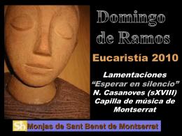 Lectura Domingo de Ramos
