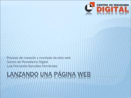Proyecto de sitio web - Centro de Formación en Periodismo Digital