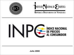 INPC - Banco Central de Venezuela