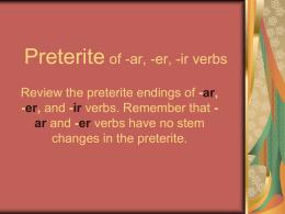 Preterito 2 w practice - FS 5 y 6