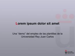 """Presentación PowerPoint """"Demo"""" - URJC"""