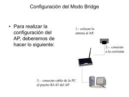 Configuración del Modo Bridge