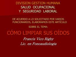 LIMPIEZA CORRECTA DE OIDOS