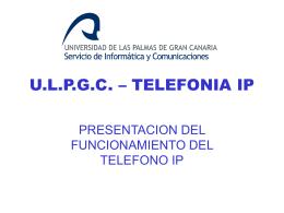 Qué es la telefonía IP - Servicio de Informática de la ULPGC